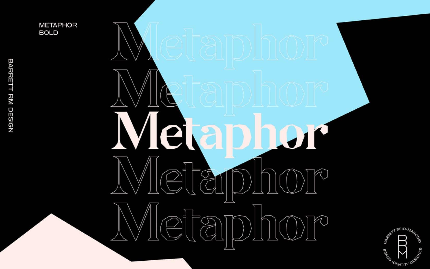 Best Free Display Fonts Metaphor