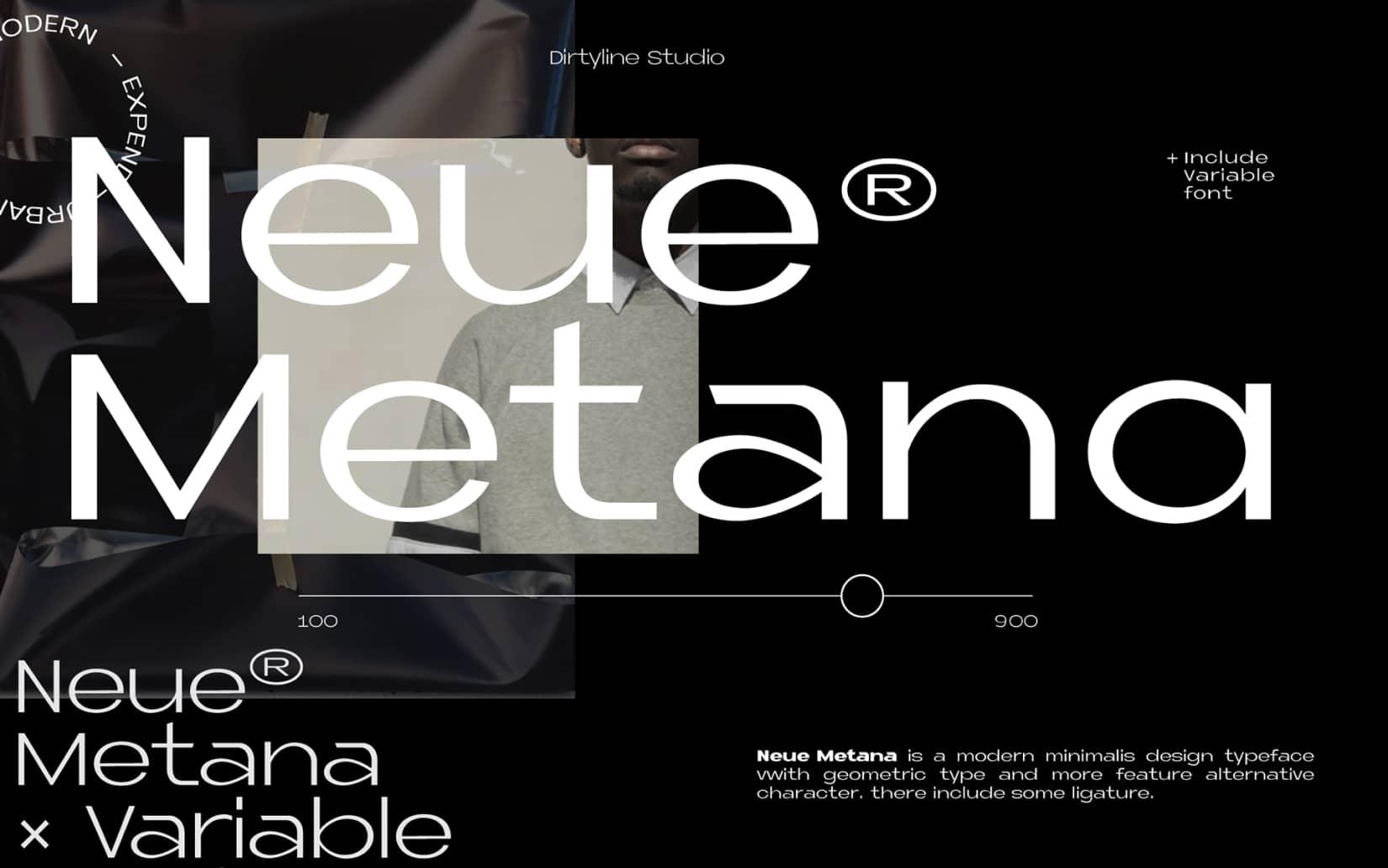 Best Free Display Fonts Neue Metana