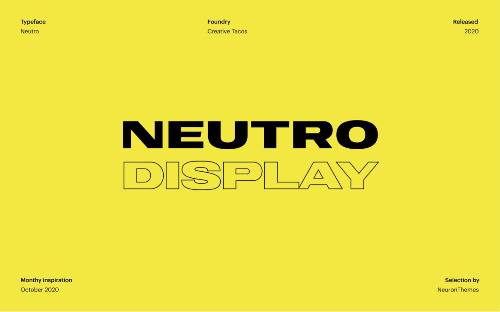 Best Free Display Fonts Neutro Display