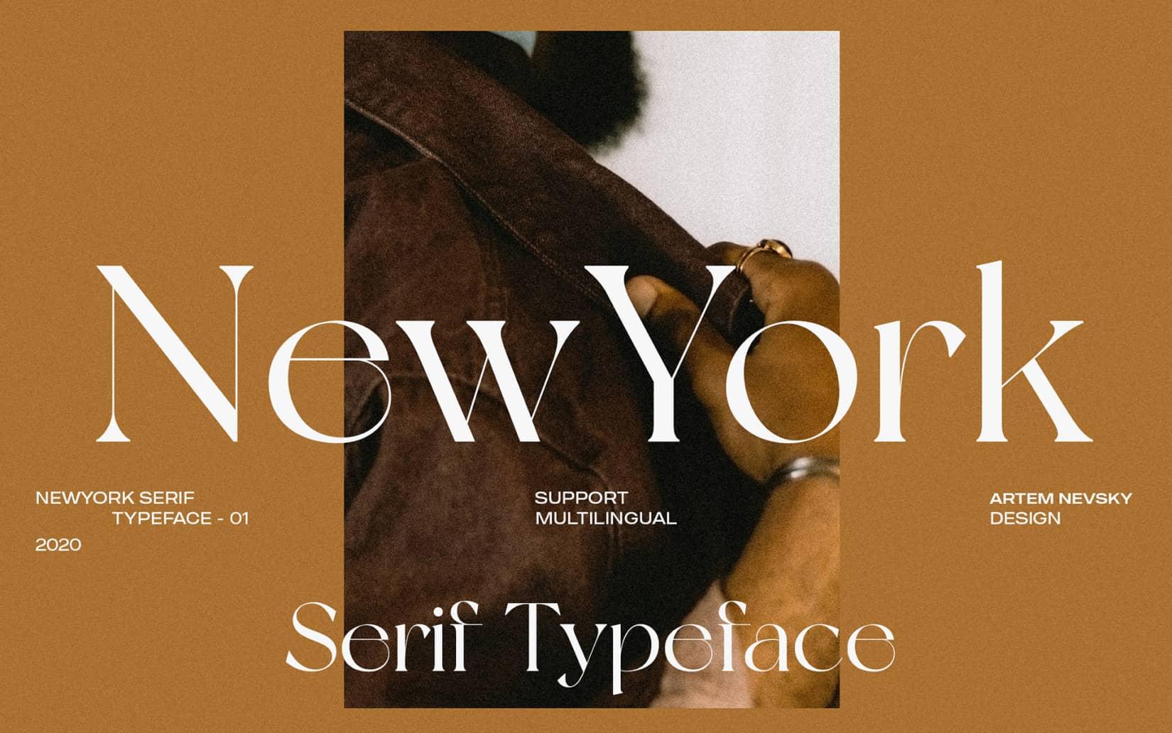 Best Free Display Fonts NewYork Typeface
