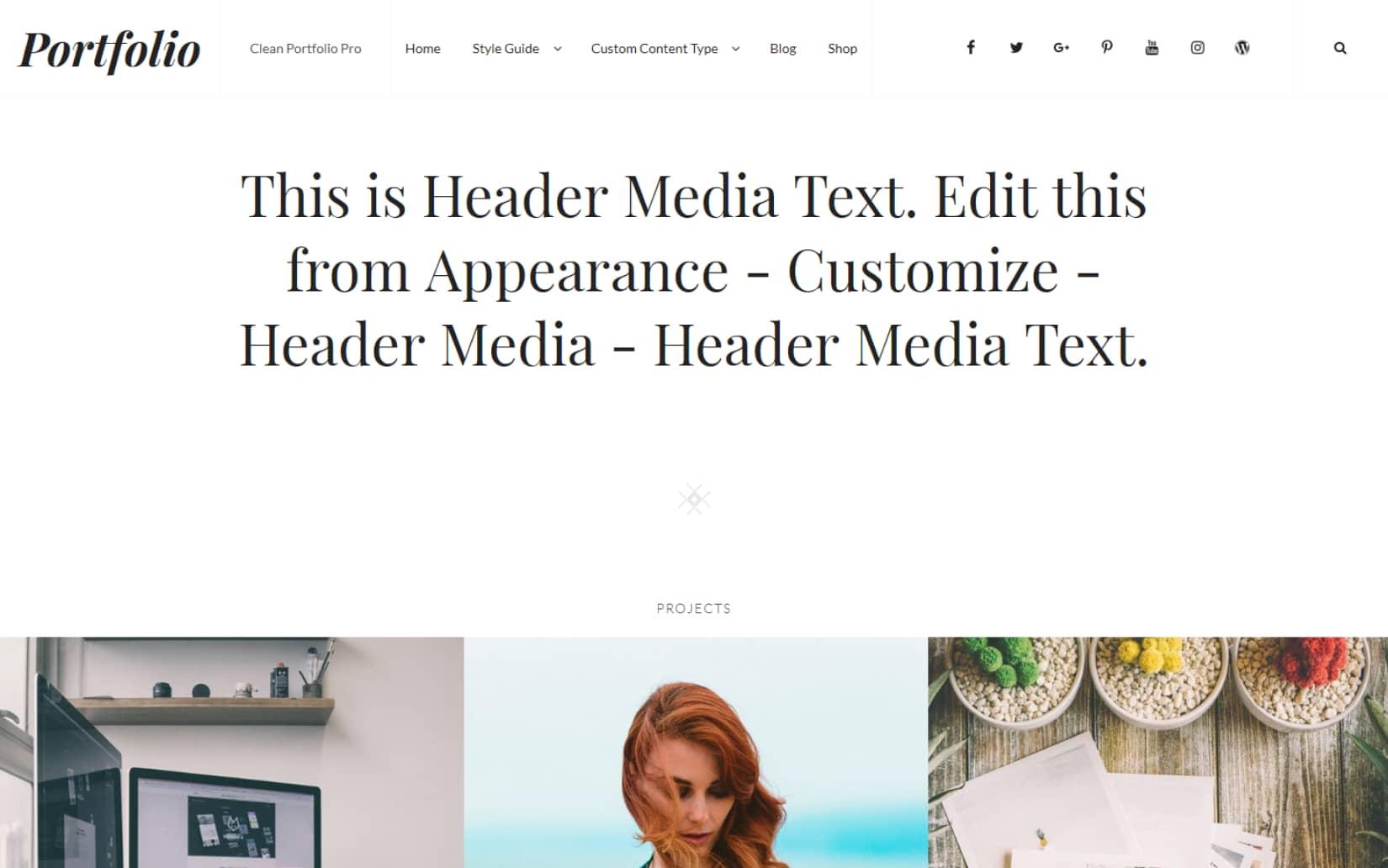 Clean and Minimal Portfolio WordPress theme for creatives and designers