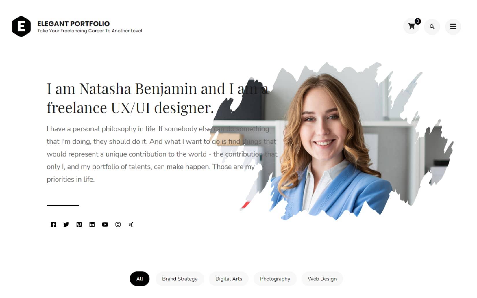 Free Portfolio WordPress theme for creative websites and agencies