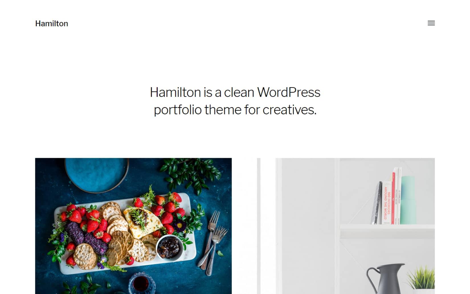 Free Creative WordPress theme for portfolio websites and showcases