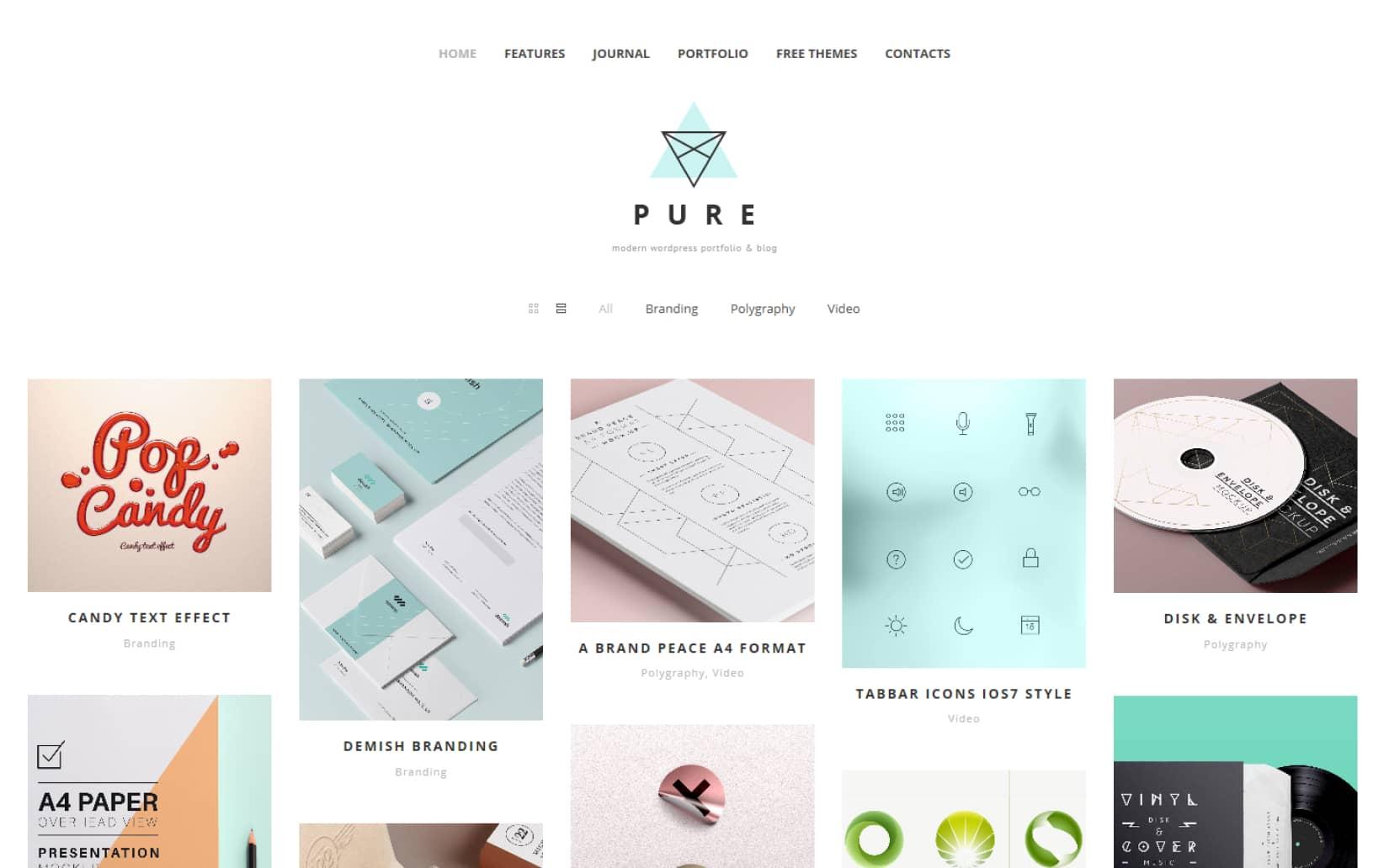 Best Free POrtfolio WordPress theme for minimal websites
