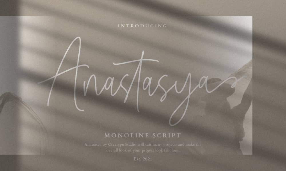 Anastasya Free Monoline Script Font 1