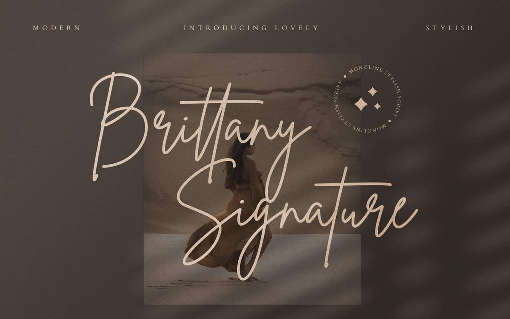 Brittany Signature Free Handriting Font 1