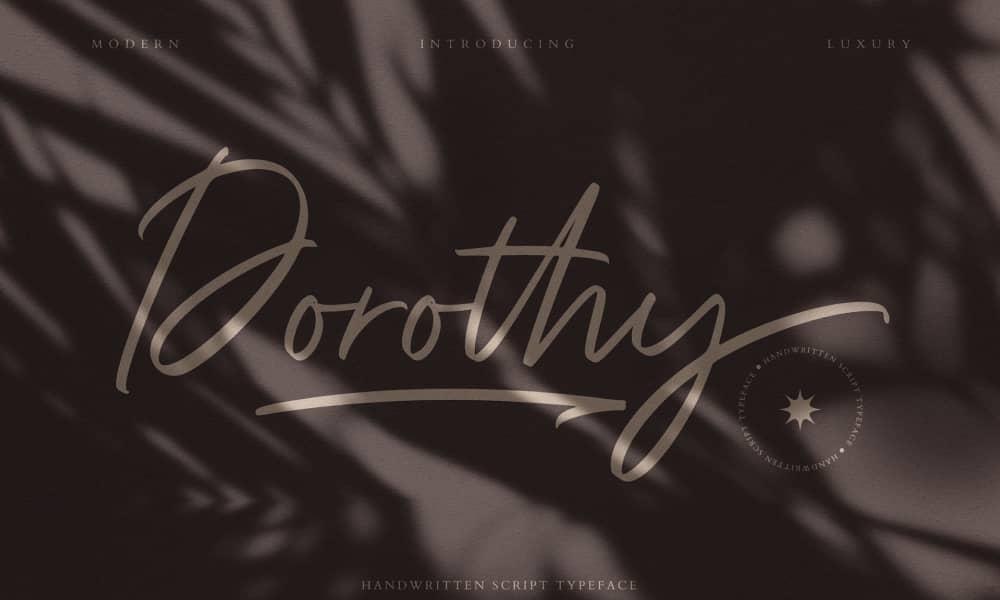 Dorothy Best Handwritten Fonts for 2021 1