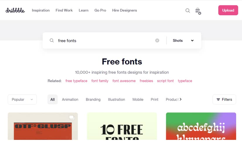 Dribbble - Best sites to download free fonts (1)