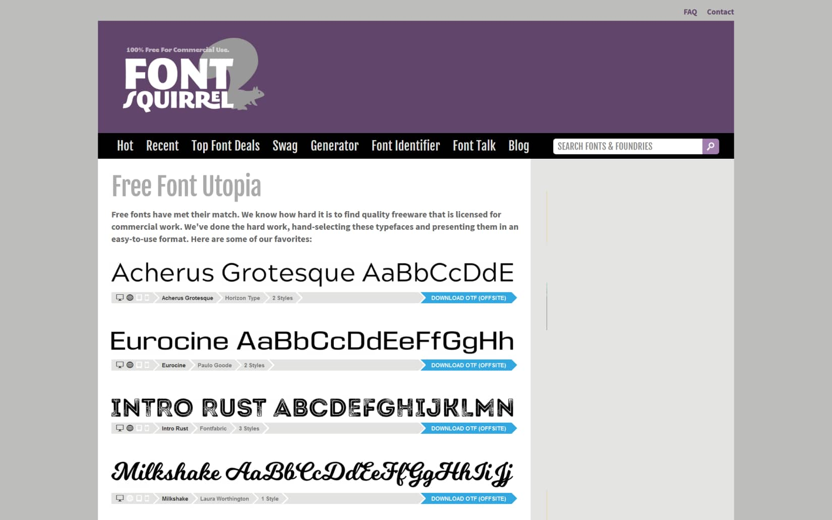 Best Resources to Download Free Fonts in 2021 - Font Squirrel
