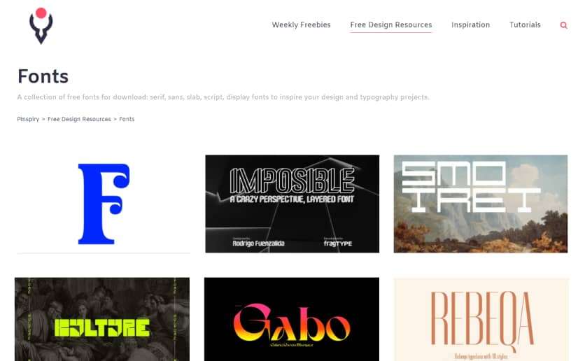 Pinspiry Fonts - Download fonts for free (1)