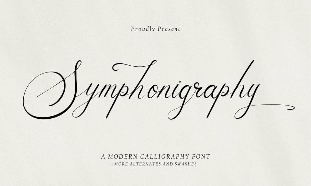 Symphonigraphy - Free Handwritten Font