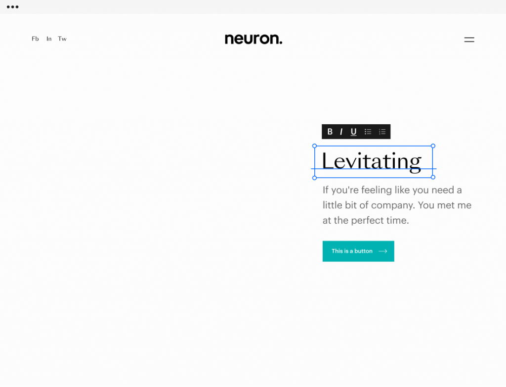 Neuron Design Builder for crafting beautiful and professional website