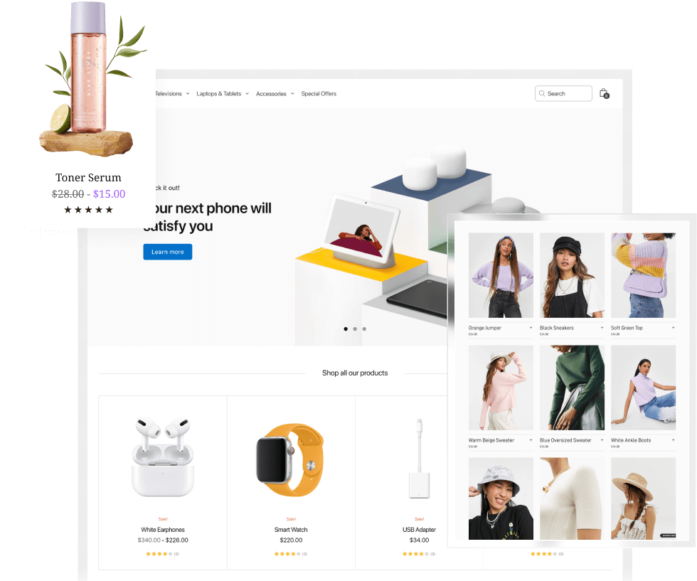 Create stunning landing pages with WooCommerce Builder for WordPress