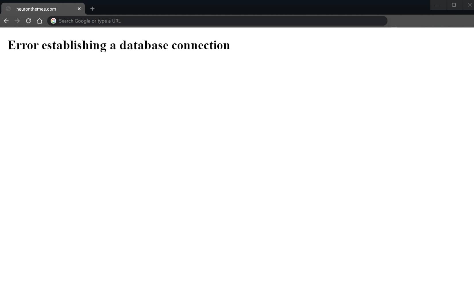 Error Establishing a Database Connection Neuron Themes 1