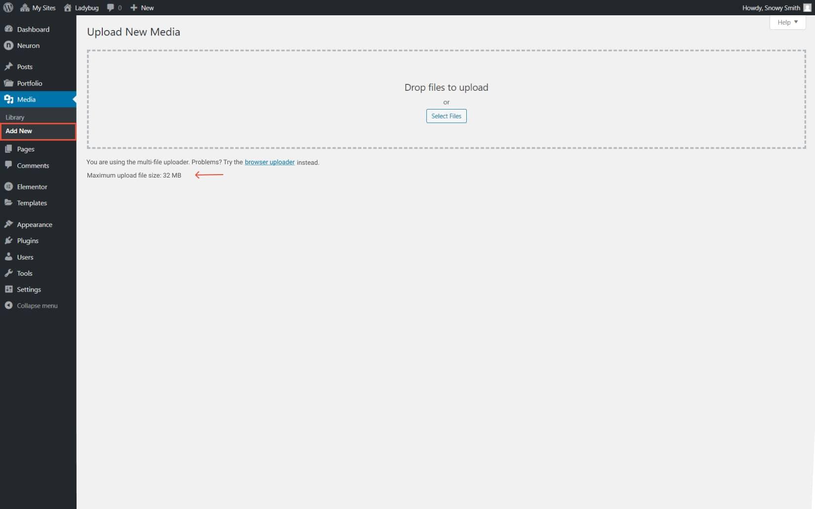 File upload size limit