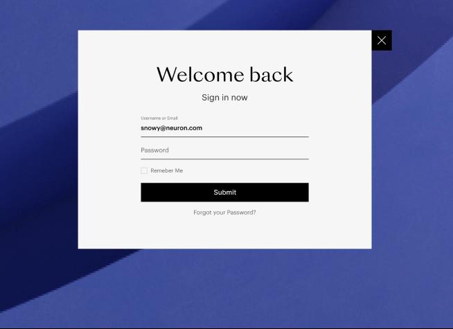 design login forms