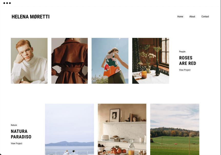 Present your online portfolio website in the best way