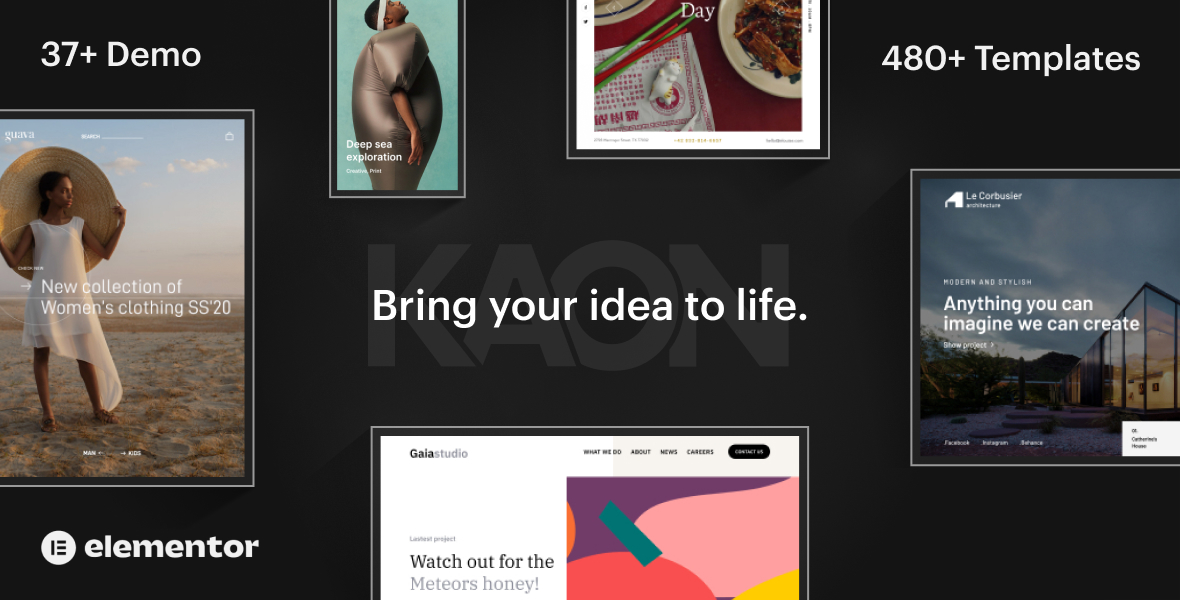Kaon Creative Website Builder for WordPress– WooCommerce