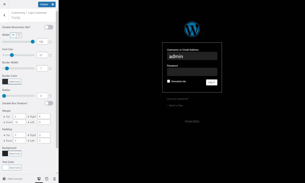 Design the login page for with a free WordPress plugin