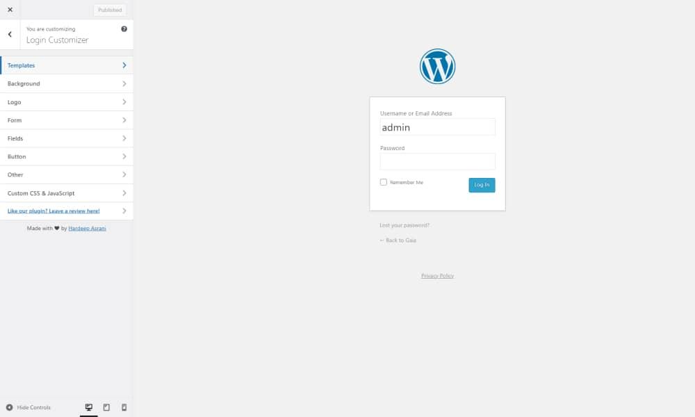 Customize the Login Page with a WordPress Plugin