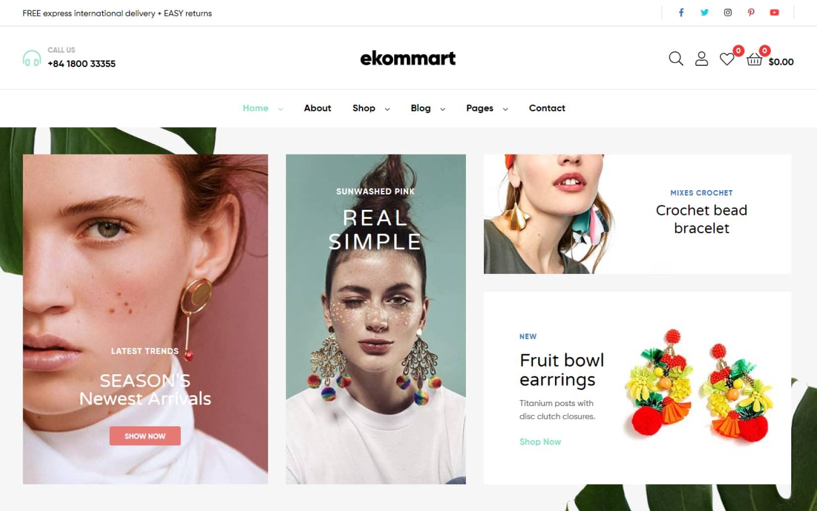 Ekommart All in one eCommerce WordPress Theme