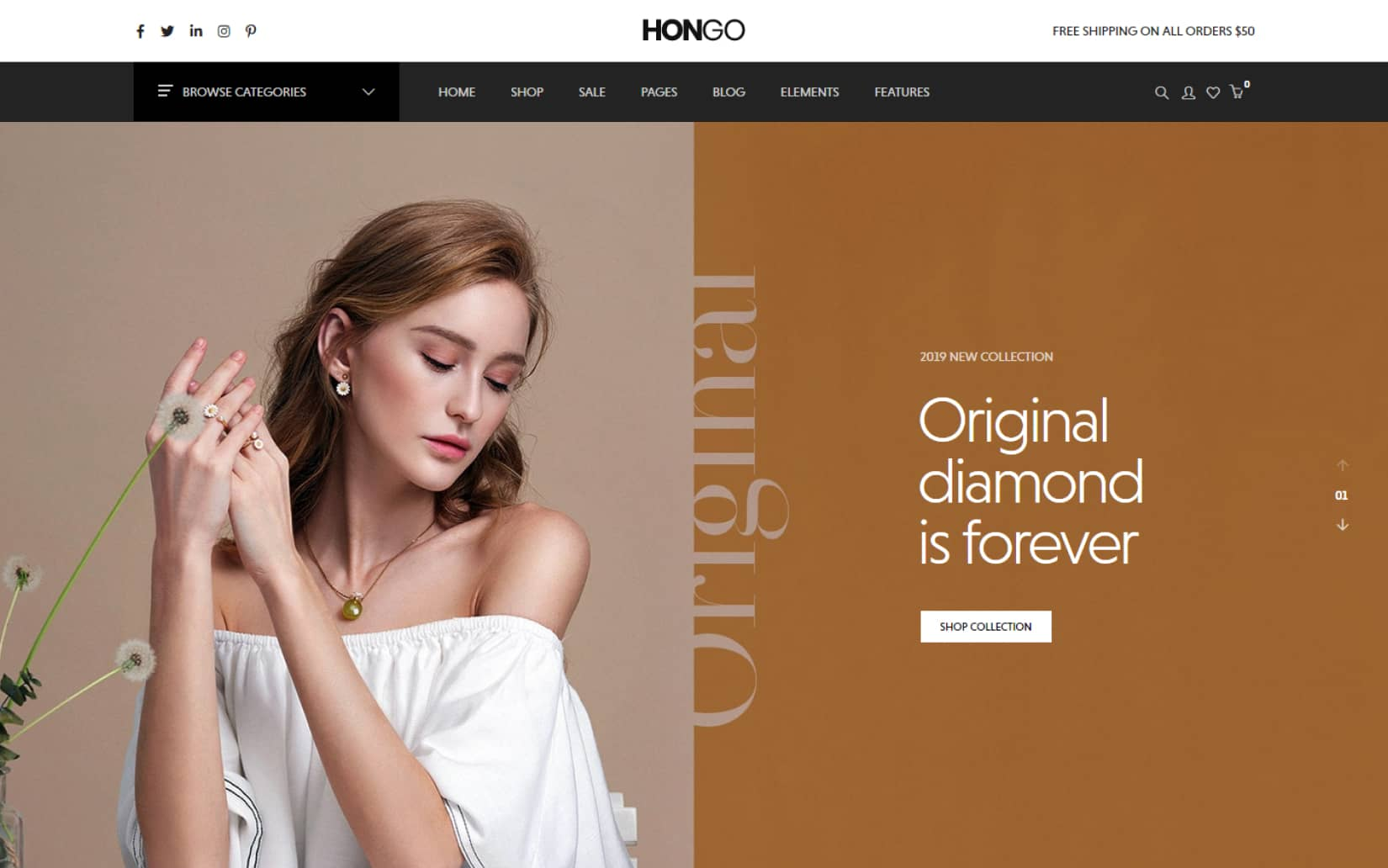 Hongo Modern Multipurpose WooCommerce WordPress Theme