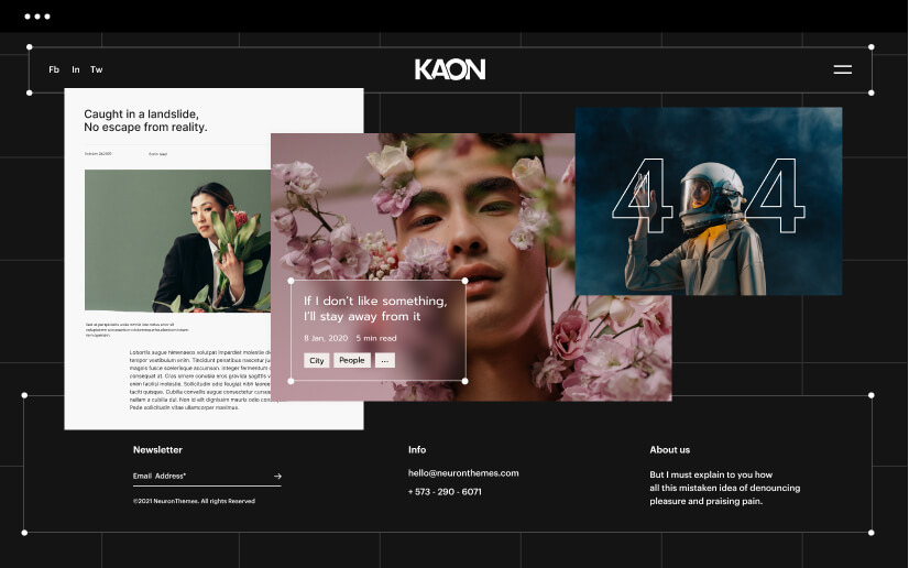 Design and create any niche website with Neuron WordPress Builder