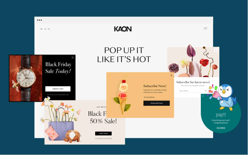 Build and design popups and forms to constitute your marketing strategy