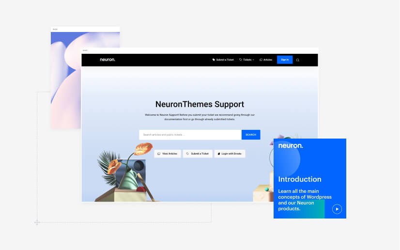 The professional support of our Neuron WordPress themes is one of the reasons to choose Kaon