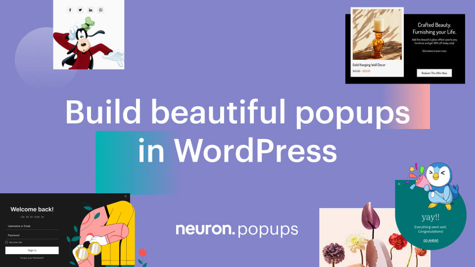 Introducing Popups How to Build Popups in WordPress with Neuron Builder