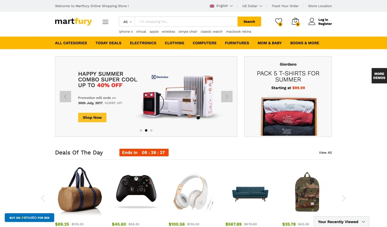 Martfury All in one Marketplace Theme