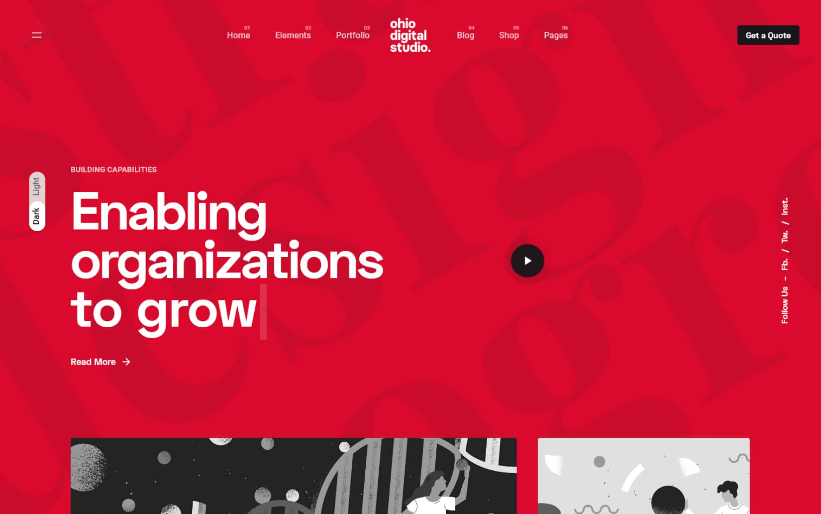 Ohio Creative Portfolio Agency WordPress Theme