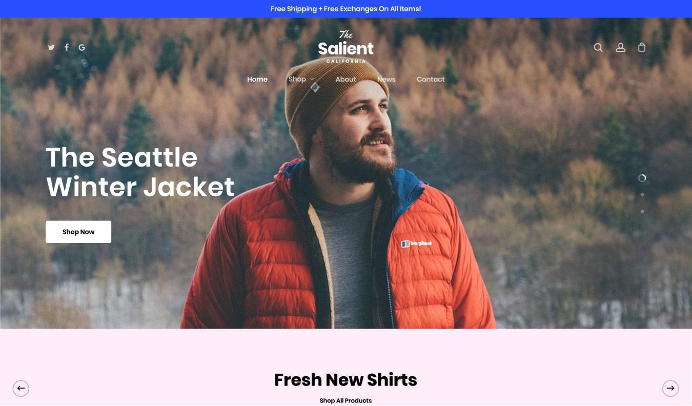 Salient Premium WooCommerce Theme