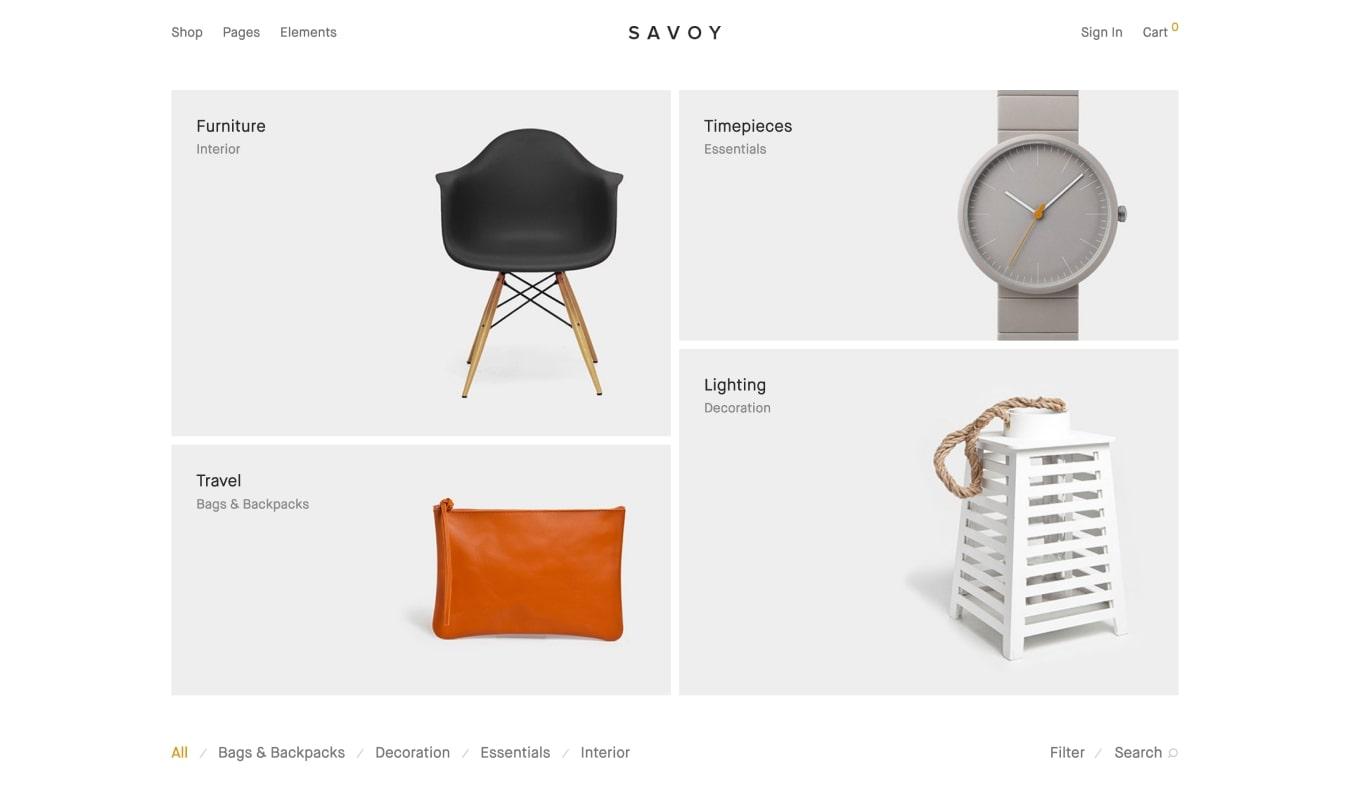 Savoy Minimal WooCommerce Theme