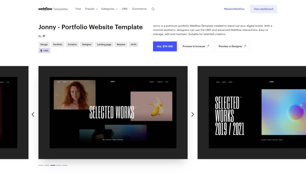Pre-made Webflow Templates