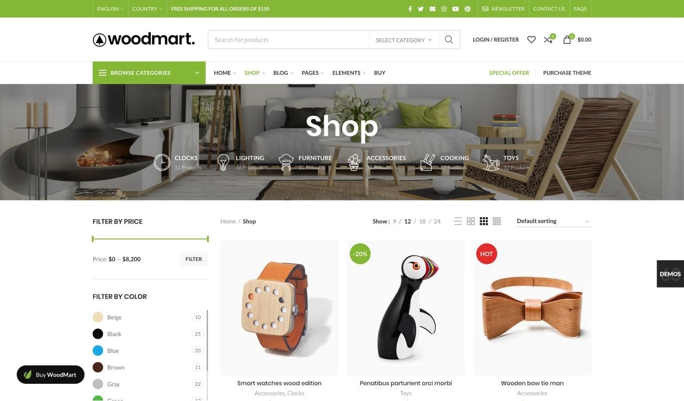 WoodMart Universal WooCommerce Theme