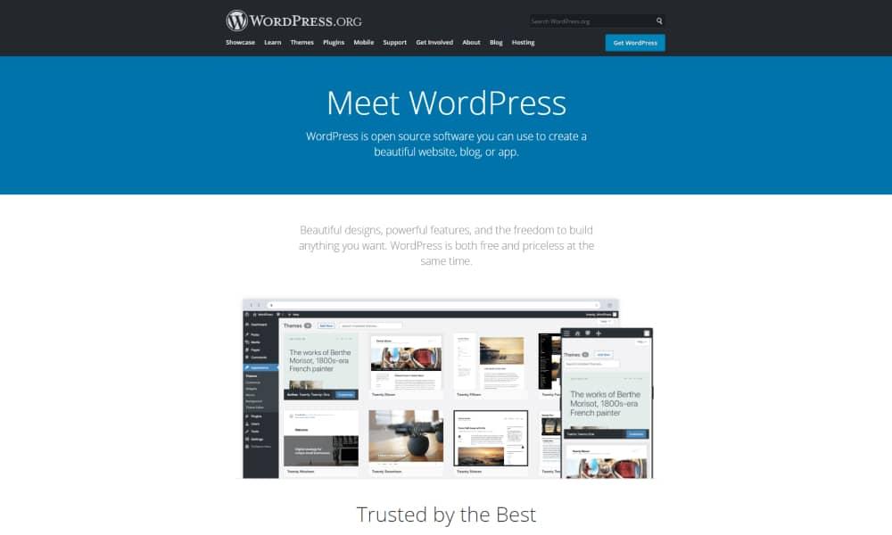 WordPress - an open-source content management system
