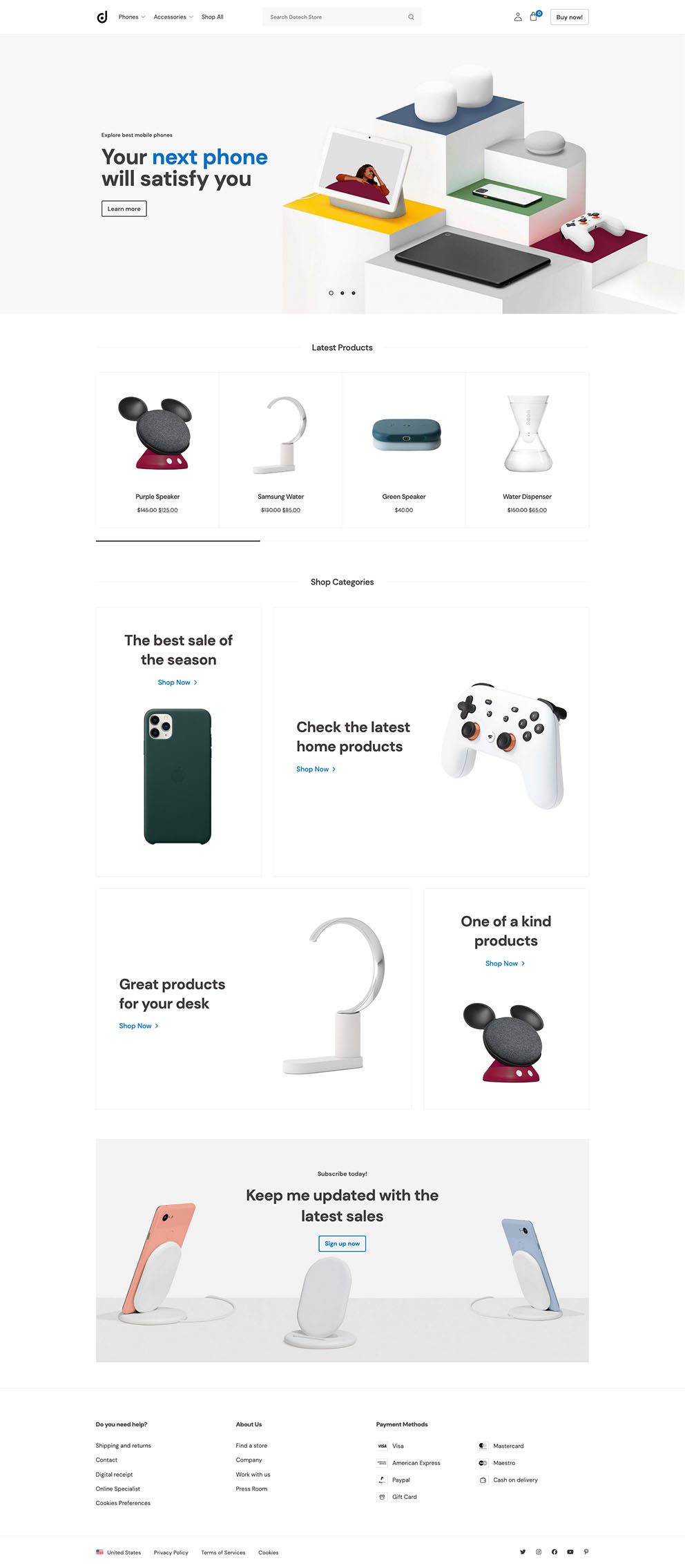 Dotech Technology Store Demo Website for eCommerce