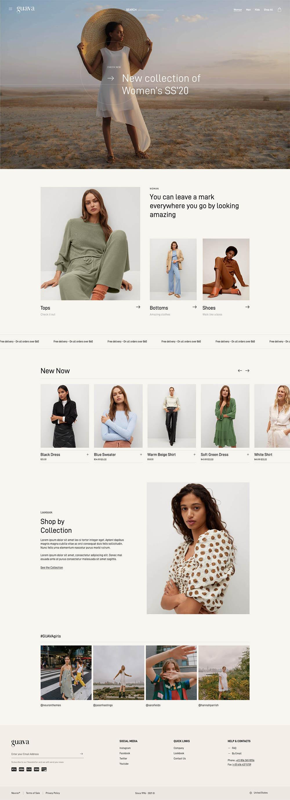 Guava Fashion Store Demo Website for WordPress