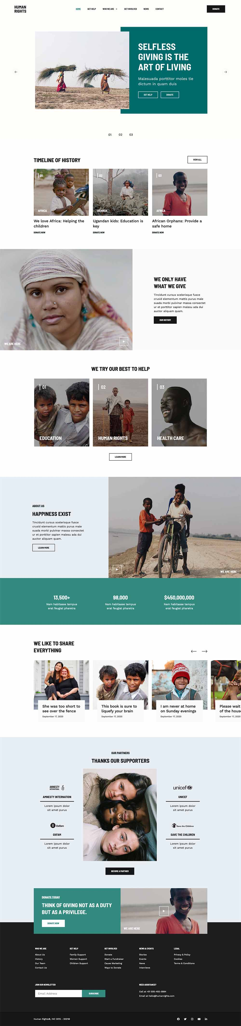 Human Rights - Charity and Donation Demo for WordPress
