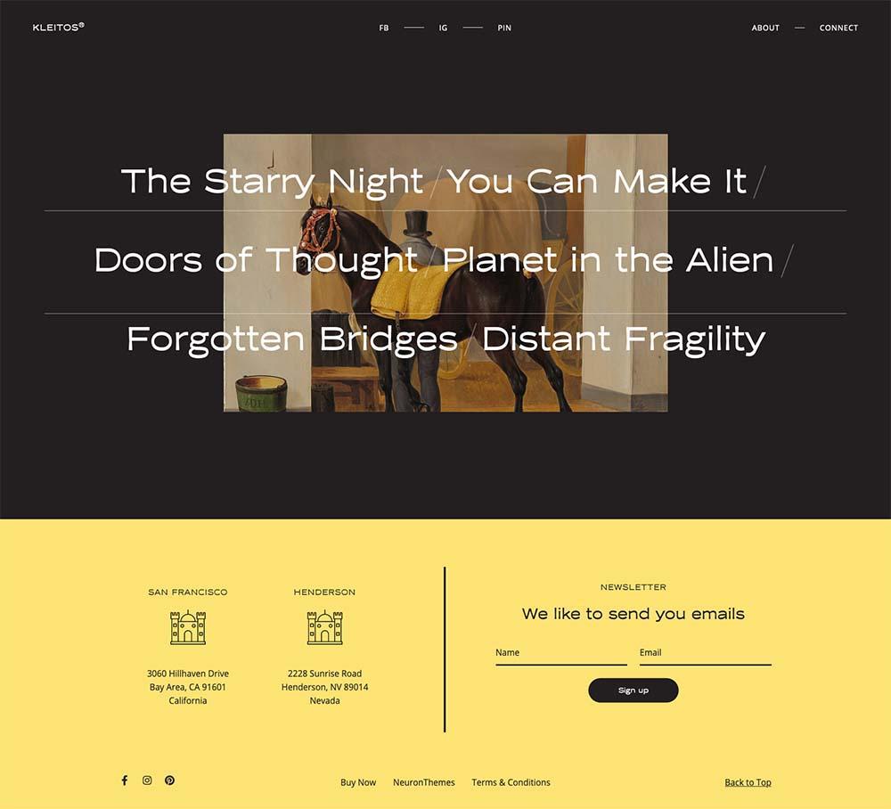 Kleitos Modern Portfolio Demo Website for WordPress
