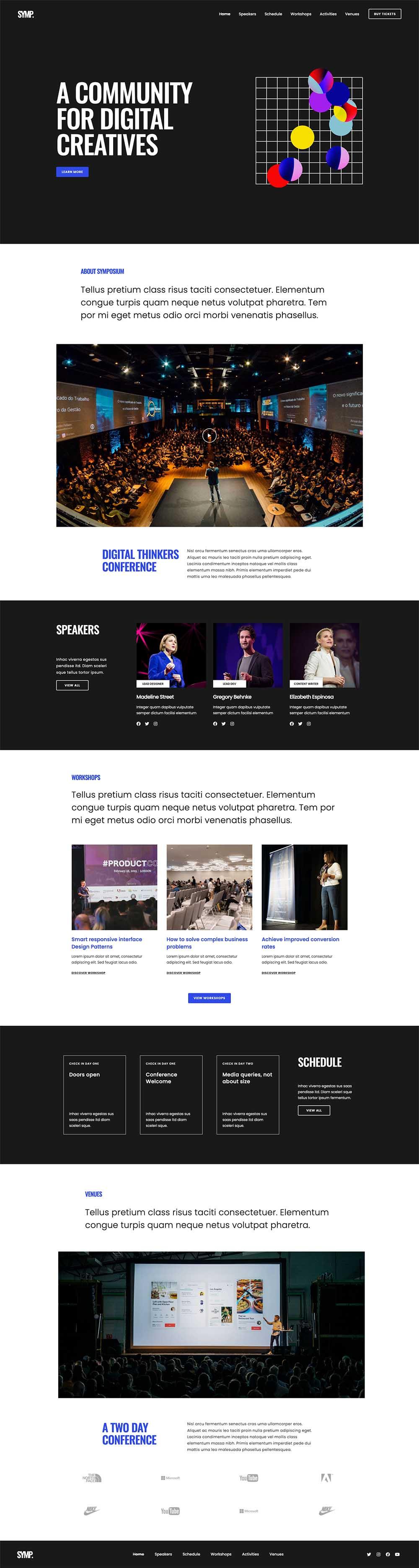 Symposium Event & Conferences Demo Website for WordPress