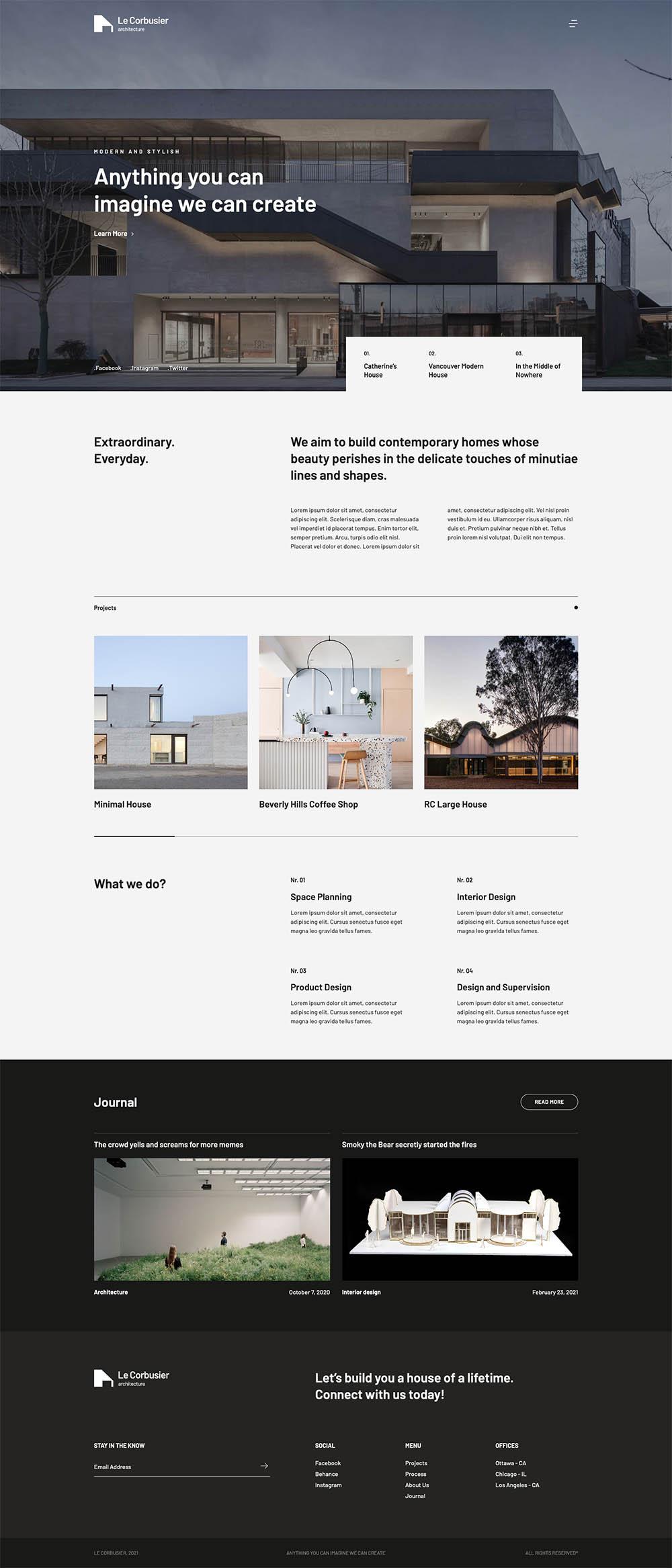 Le Corbusier Contemporary Architecture
