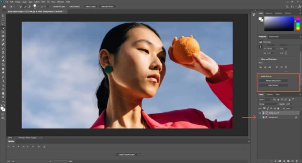 Adobe Photoshop Quick Fix - Remove Background