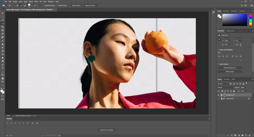Remove Background with Photoshop - Preview