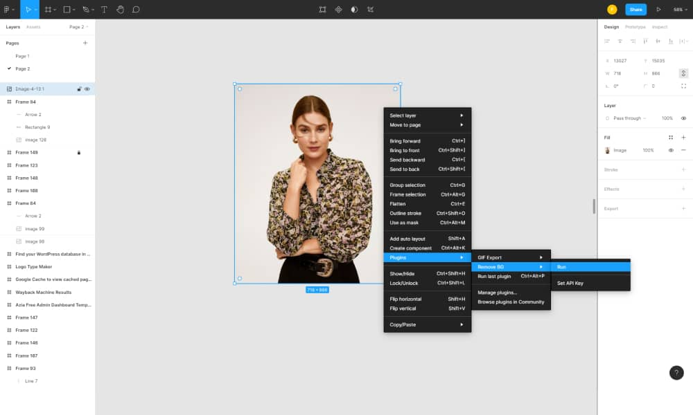 Remove the background of images in Figma