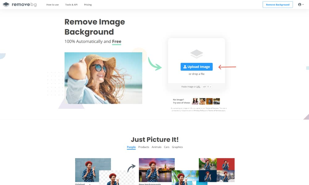 Remove the background of images with Remove BG