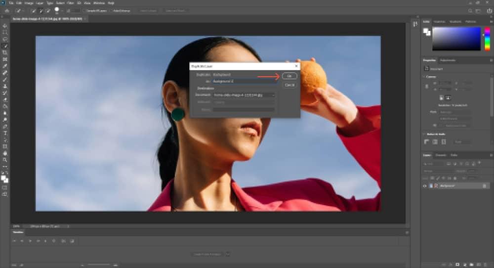 create a duplicate layer in photoshop 1