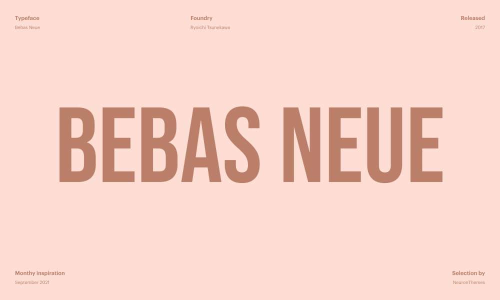 Bebas Neue Best Free Google Fonts for 2021 1
