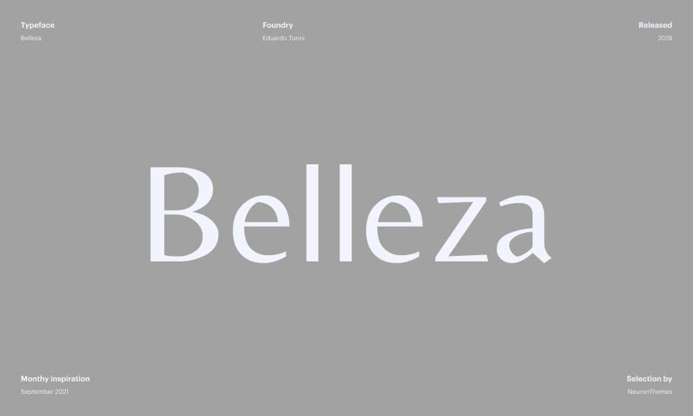 Belleza - Best free Google fonts_ Designers pick